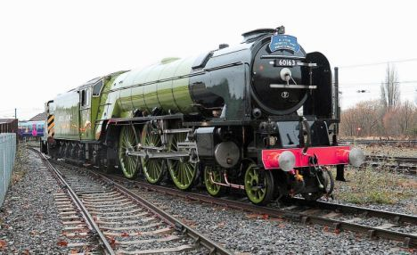 It's the only new steam train in 40 years... and Charles the Prince of Rails gets first drive | Daily Mail Online