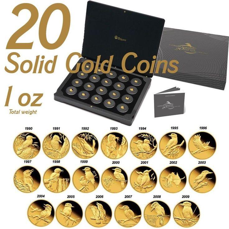 Perth Mint 20th Anniversary 20 x Solid Gold Proof Kookaburra coin Total 1oz COA