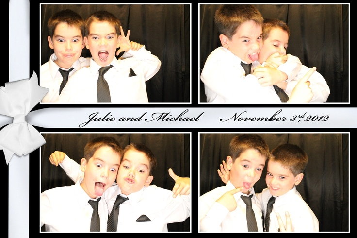 4x6 layout- 4 photo layout with equal sized photos.  There's lots of options with this layout style. #photobooth #brothers #weddingpics #picturestoremember