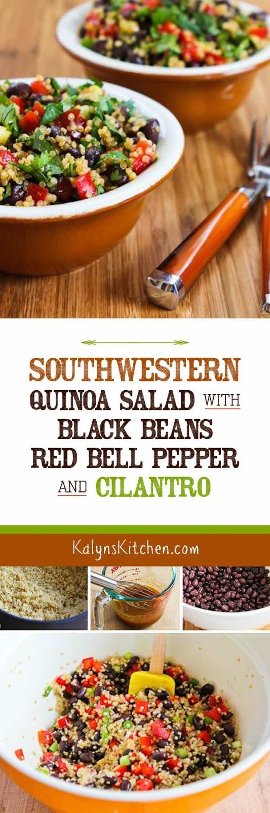 This Southwestern Quinoa Salad with Black Beans, Red Bell Pepper, and ...