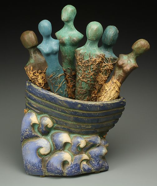One World Same Boat: Cathy Broski: Ceramic Sculpture- STUDIO SALE - Artful Home This needs to sail in my ocean.