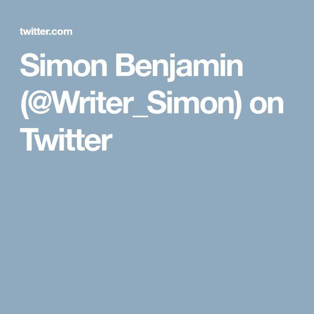 Simon Benjamin (@Writer_Simon) on Twitter