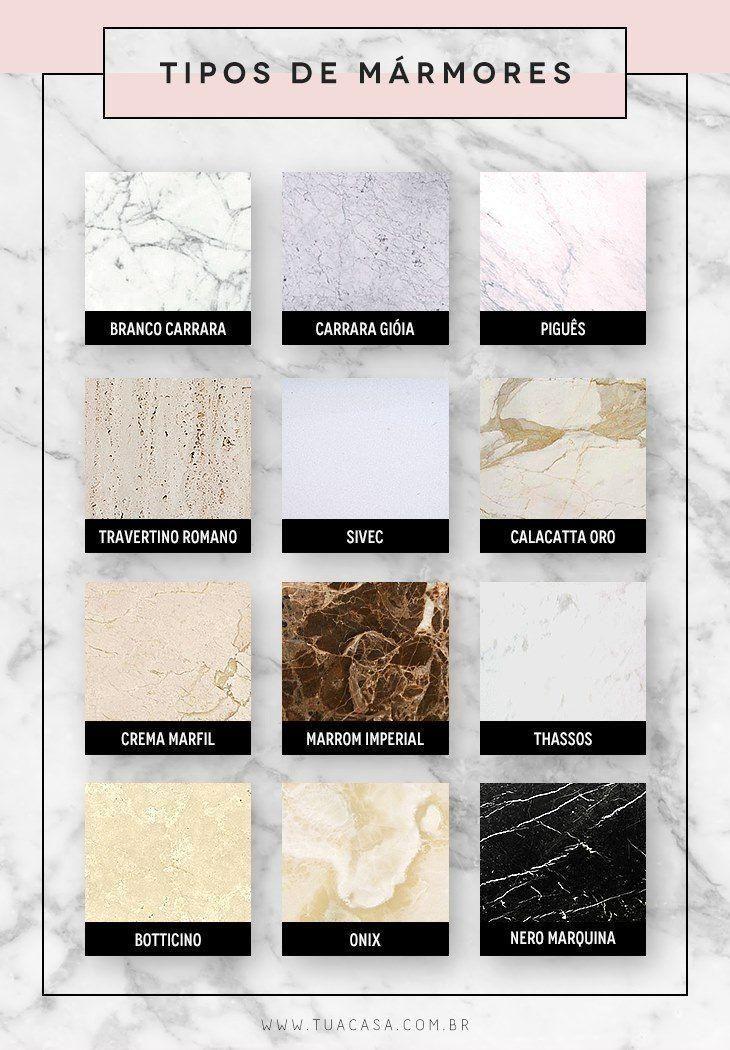 Tipos de mármore: luxo e requinte em mais de 70 fotos de ambientes decorados