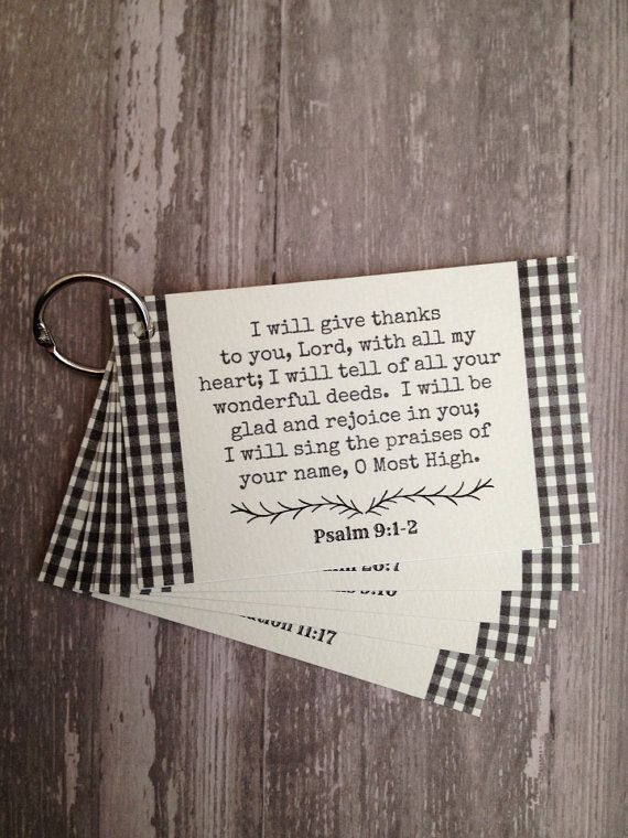 Thanksgiving scripture cards by thePaperSpindle on Etsy