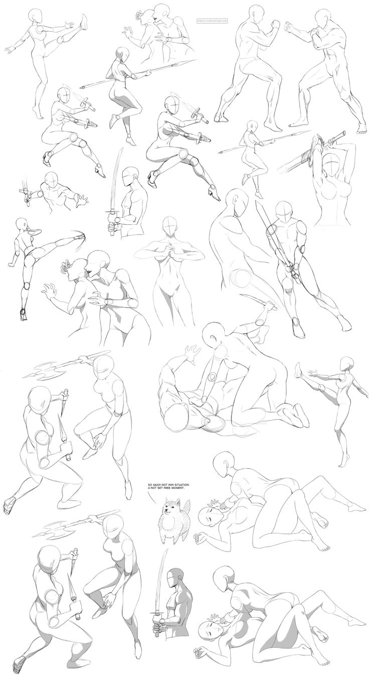 Fighting poses - general by Precia-T.deviantart.com on @deviantART