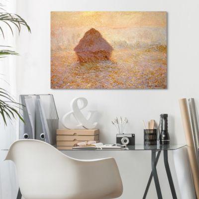 Leinwandbild Claude Monet - Kunstdruck Heuhaufen, Sonne bei Nebel - Impressionismus 100x150x2-170.00-LB-2-3 Jetzt bestellen unter: https://moebel.ladendirekt.de/dekoration/bilder-und-rahmen/poster/?uid=84b54448-e52d-5876-b6ad-7b6513fc894f&utm_source=pinterest&utm_medium=pin&utm_campaign=boards #heim #bilder #rahmen #poster #dekoration