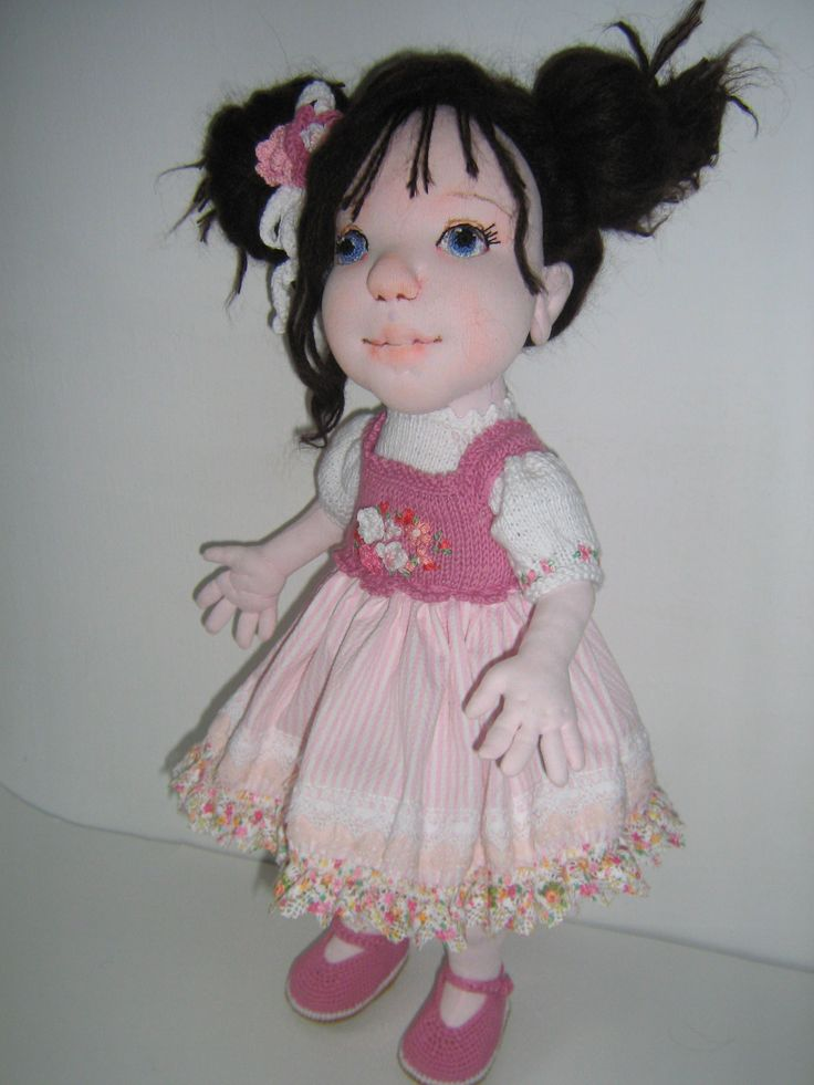 18 inch' soft sculptured cloth doll