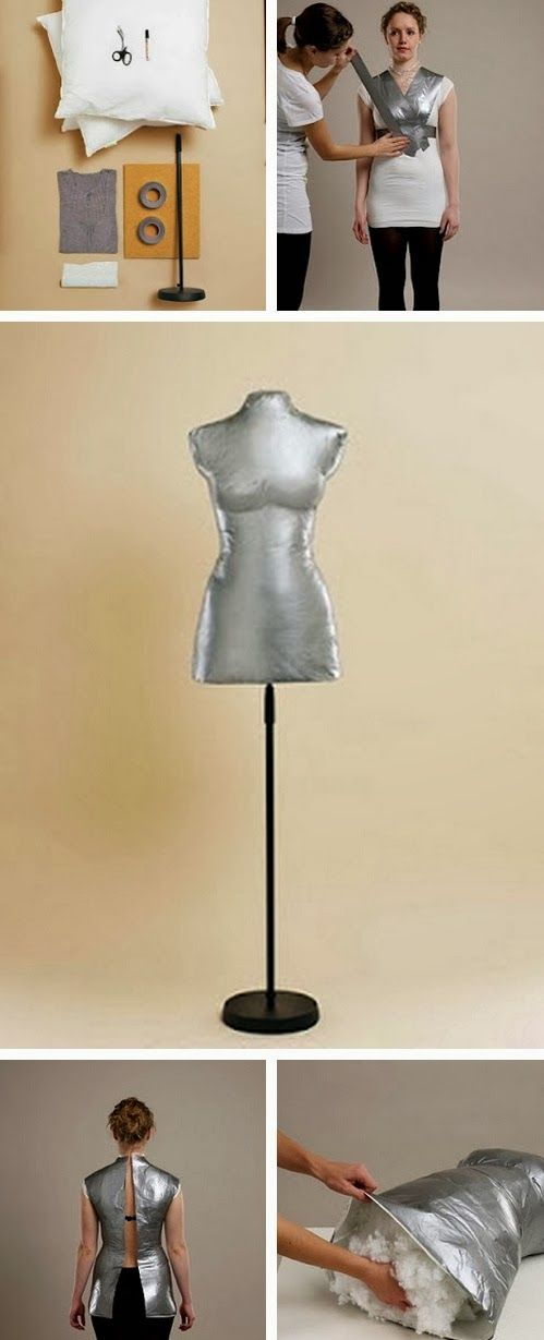 Tips para mujeres: Como hacer un Maniquí de una forma fácil y rápida:   Wow, love this. If you sew and make your own cloths, make a mannequin that would be your exact size.