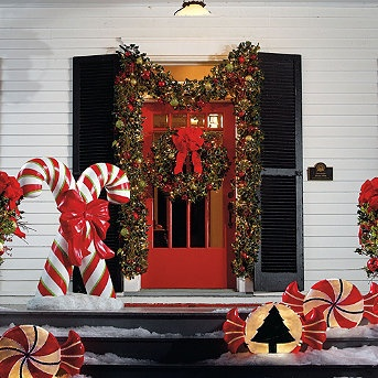 Candy Cane Outdoor Decorations 153 Best Outdoor Christmas Ideas Images On Pinterest  Christmas