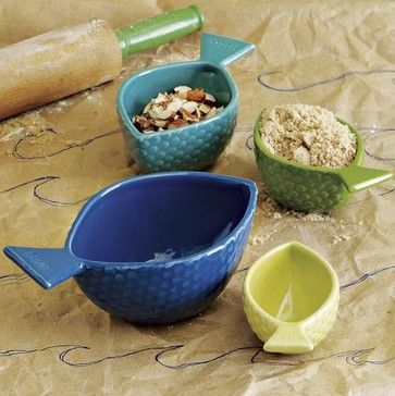 Fish Measuring Cups - eclectic - kitchen tools - West Elm