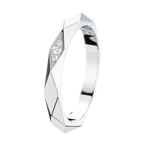 Facette Platinum Wedding Band