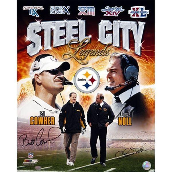 "Bill Cowher, Chuck Noll Pittsburgh Steelers Fanatics Authentic Autographed 16"" x 20"" Steel City Legends Photograph - $249.99"