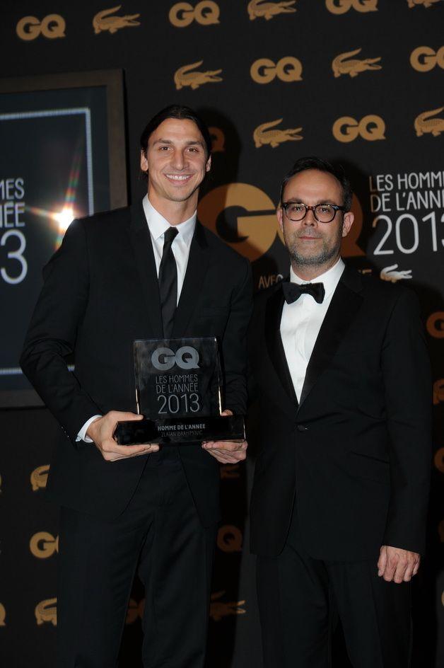 Zlatan Ibrahimovic (homme de l'année 2013) et Emmanuel Poncet (GQ) GQ célèbre ses Hommes de l'année 2013