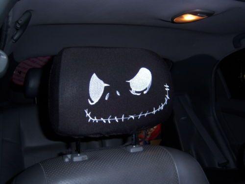 New Jack Nightmare Before Christmas 2 Car Headrest Covers   eBay