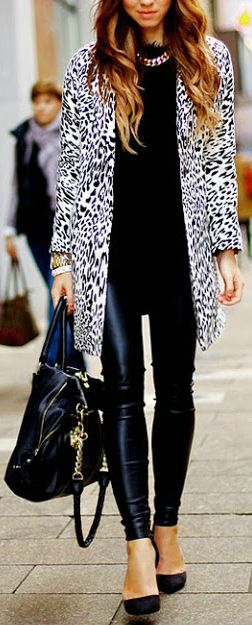 Animal Print Vegan Leather | More outfits like this on the Stylekick app! Download at http://app.stylekick.com