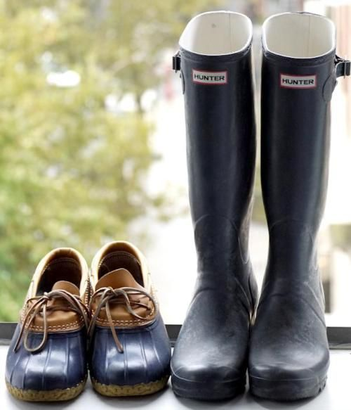 wet wearRainboots, Fashion, Winter Shoes, Style, Hunters Rain Boots, Preppy, Hunters Boots, Ducks, Beans Boots