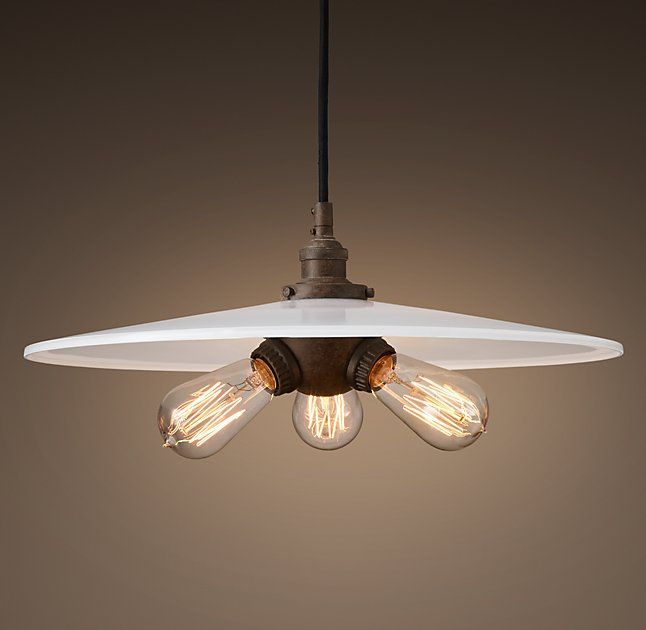 Factory Filament Milk Glass Triple PendantEvoking industrial lighting our reproductions of vintage fixtures retain the classic lines and exposed hardware ... & 166 best House: Lighting images on Pinterest | Bulbs Cabin and Cook azcodes.com