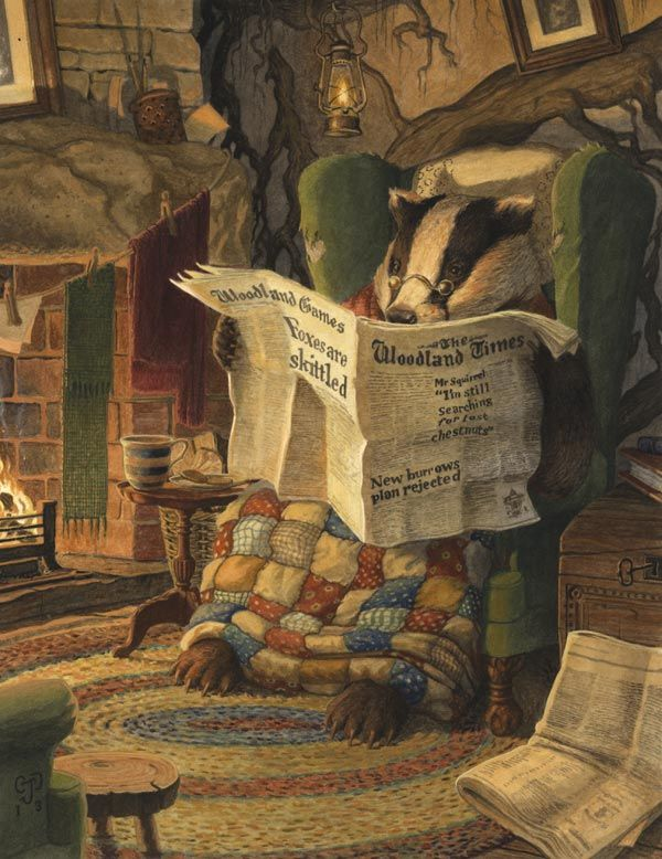 Settling-In - Chris Dunn. Badger, Wind in the Willows