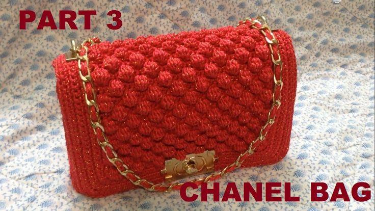 How to Crochet Bag CHANEL part 3 - Hướng dẫn móc túi xách CHANEL P3