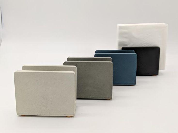 Napkin Holder. Handmade Concrete Napkin Holder for Modern Kitchen. Sponge Holder for Sink. Mail Holder for Desk. Industrial Modern Design