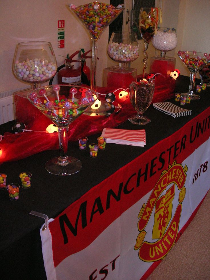 Manchester United Themed Adult Birthday Party By Pink Bon