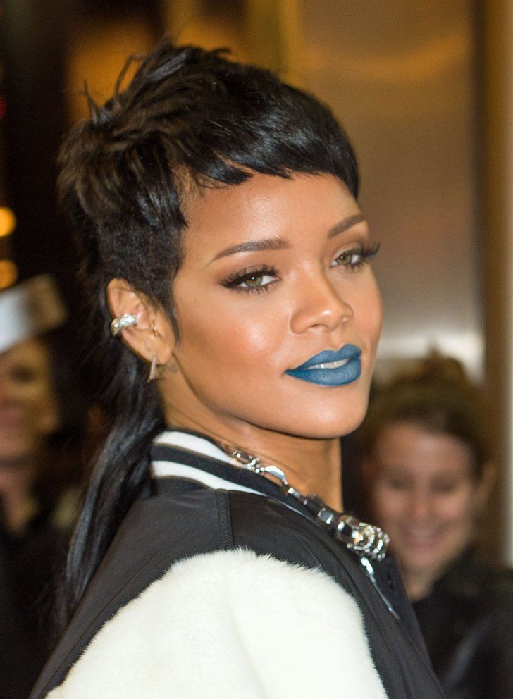 Pin for Later: It's True — the Modern Mullet Hair Trend Is Happening Rihanna In 2013, Rihanna appeared in London with a more traditional take on the mullet (short front, long back).