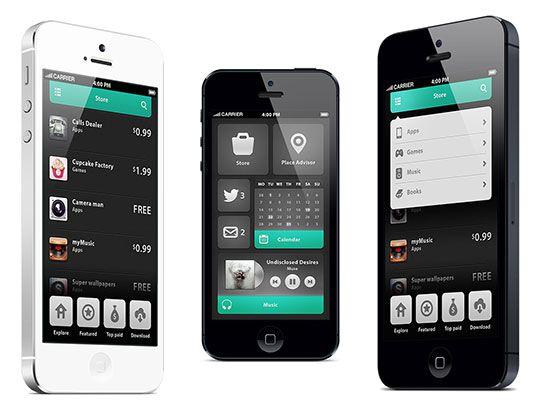mobiele UI websites - Google zoeken