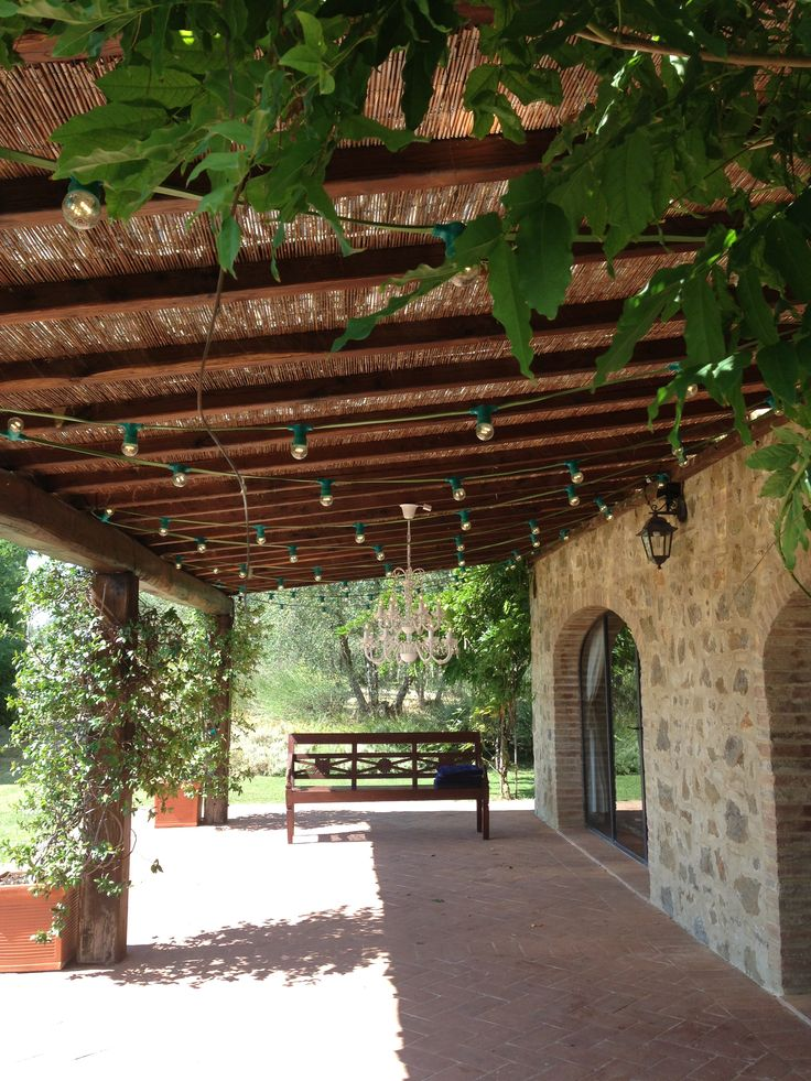 Bulb lamps at Villa La Poggiolaia - Certaldo, Italy