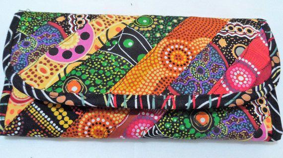 Wallet Card & Note holder  Australian Aboriginal prints