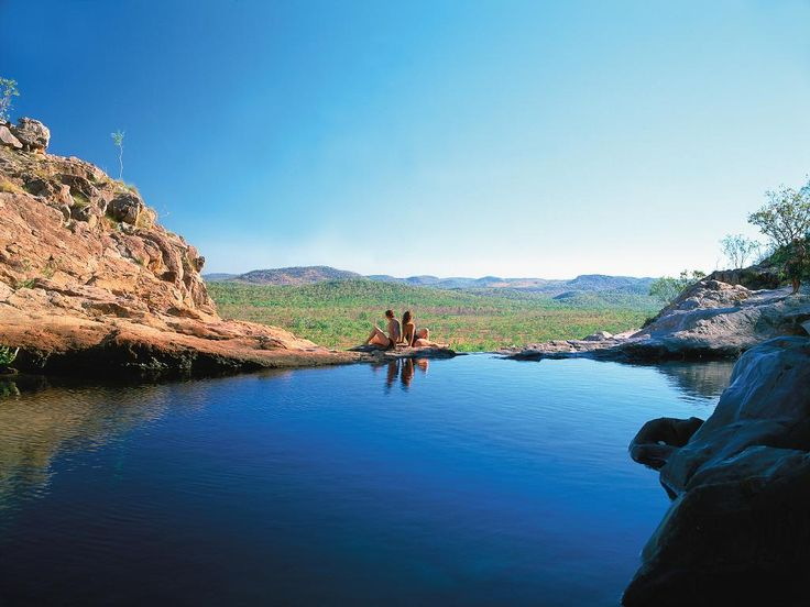 <b>GUNLOM PLUNGE POOL, KAKADU, NT:</b> Known as nature's infinity pool, Gunlom is one of the most extraordinary spots to enjoy sweeping views over Kakadu National Park.