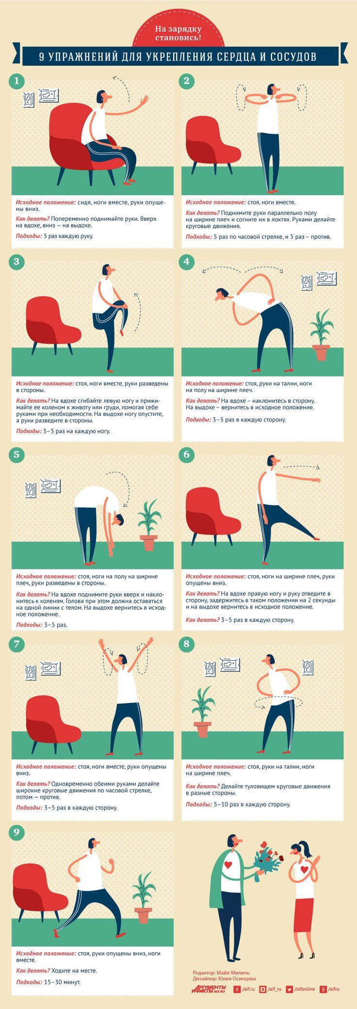На зарядку становись! 9 упражнений для укрепления сердца и сосудов | Здоровая жизнь | Здоровье | Аргументы и Факты
