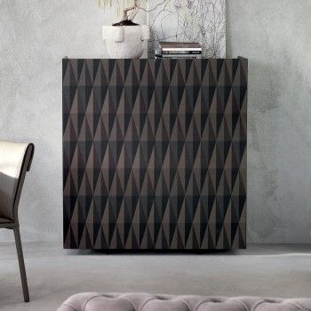 Arabesque wooden cupboard with geometric pattern by Cattelan