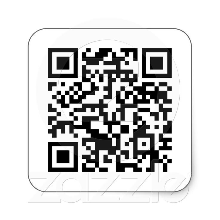 Rick Roll QR Code Rickrolled Square Sticker