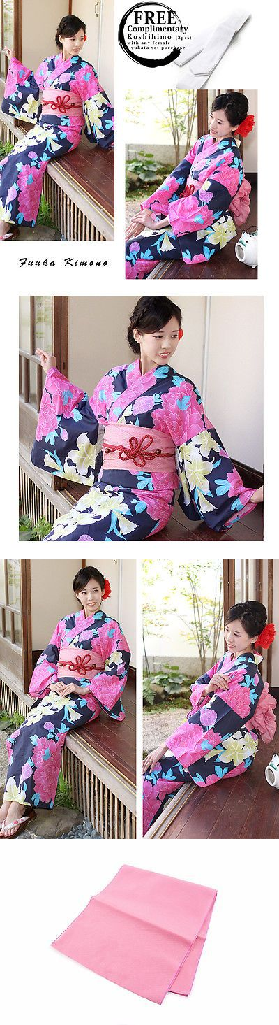 Kimono 155244: (X4761a)Japanese Ladies Summer Kimono - Yukata And Obi Belt Set Of 2 - Brand New -> BUY IT NOW ONLY: $63 on eBay!