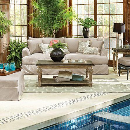 Emory Outdoor 94 Slipcovered Sofa In Sundial Flax Arhaus Furniture