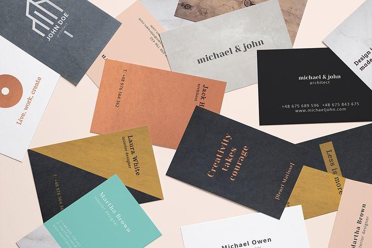 colour.me oryginalne wizytówki - gotowe szablony do druku creative #businesscards