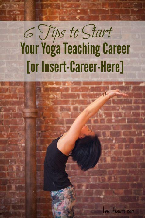 6 tips to start your yoga teaching career
