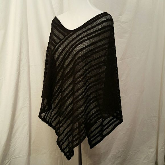 Black Poncho Very light. Great for layering any time! It great condition! Accessories Scarves & Wraps