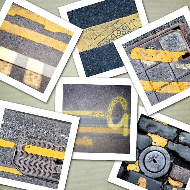 Double Yellow Lines, Six 5x5 inch photographic prints £25.50 from Eyeshoot Photography