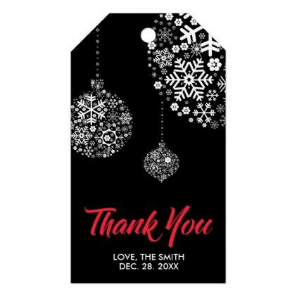 Modern Winter Party Thank You Gift Tags Christmas Craft Supplies