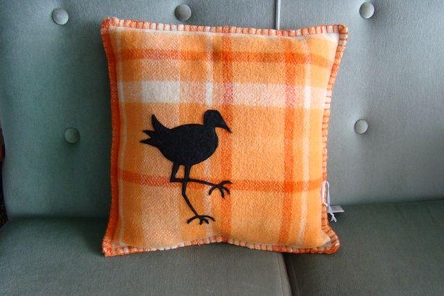 Vintage NZ orange cushion