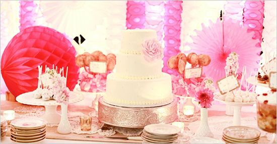 So many things about this is so perfect! #wedding #events #cake #pink #desserts #buffet