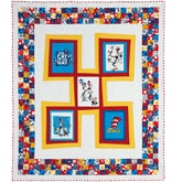 """The Cat in the Hat is a favorite story for kids of all ages. This quilt with it storybook blocks that are slightly askew will be a favorite as well. Kit includes Robert Kaufman's The Cat in the Hat, and Celebrate Seuss collection fabric for the top and binding. Quilt measures 56"""" x 66"""".   Instructions for this kit are in the Nov Dec 2010 issue of Love of Quilting: Book Quilts, Quilting Ideas, Cat, For Kids, Baby Quilts, Quilting Fun, Has, Kaufman Quilts, Storybook Blocks"""