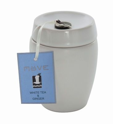 "Duftkerze ""LUXE CANDLE"" im Keramikgefäß, white tea & ginger"