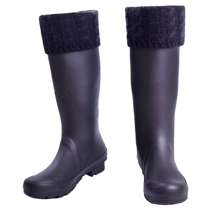 Womens Thermal Fleece Cable Liners Welly Wellington Rain Boot Socks(Medium, Black). Benefits -High quality fabric, pocket friendly and competitive price gives you a product worth buying. -Available in a Variety of Rain Boot. -Comfort to wear and walk around with. -Easy to wash and doesn't fade. Size Chart SIZE M: US (Female) 5-7, UK 3-5, EU 36-38 Package Includes 1 Pair Rain Boot Sock.