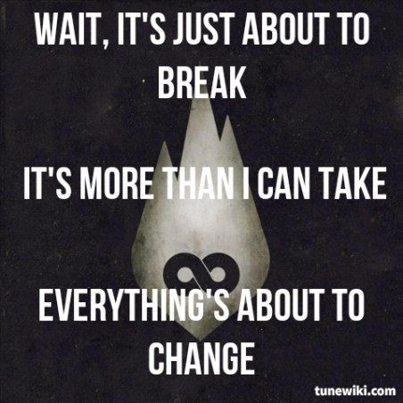 Lyric Art of War Of Change by Thousand Foot Krutch