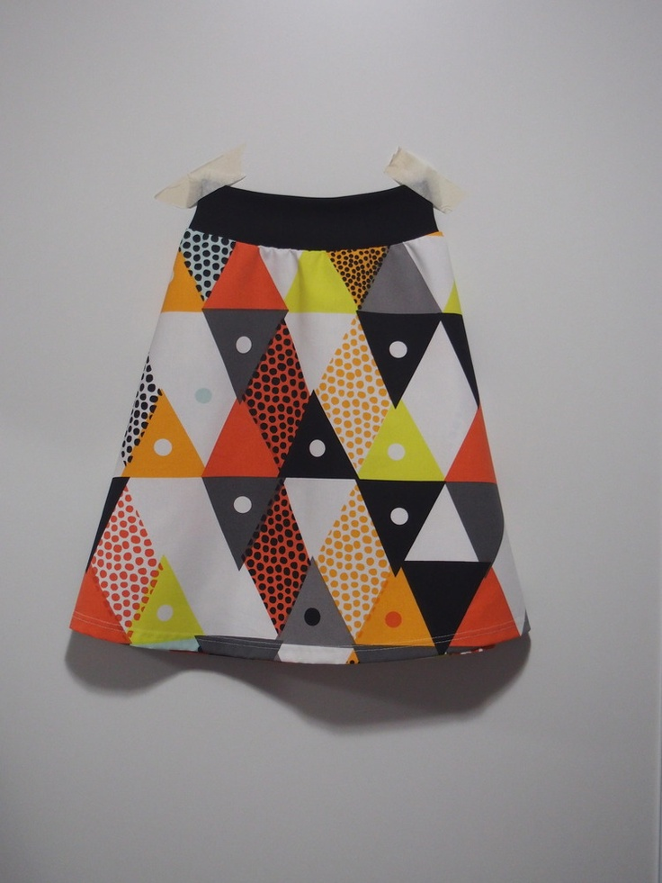 Wanderlust Clothing by Miss Fancypants — triangle print heavier weight cotton aline skirt by Wanderlust Clothing