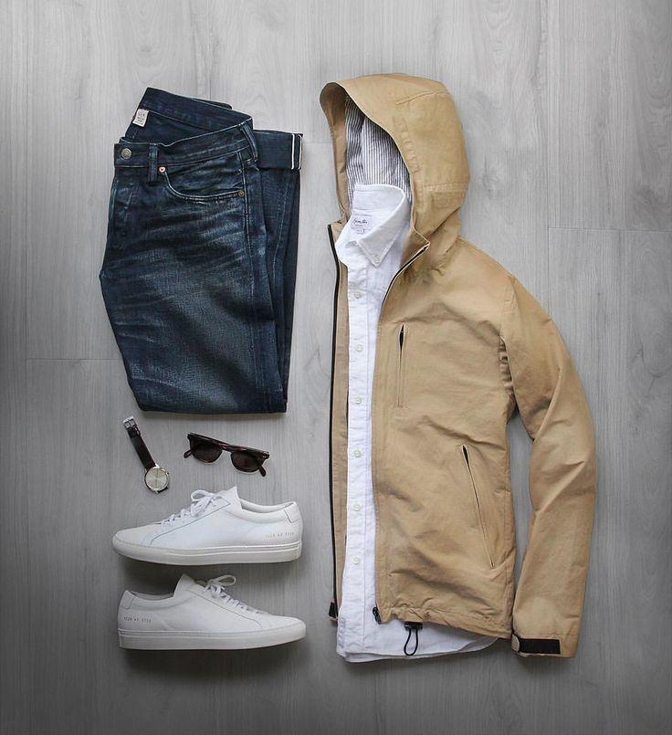 """좋아요 8,693개, 댓글 87개 - Instagram의 Phil Cohen(@thepacman82)님: """" Rain, rain, go away.  Shirt: @hamiltonshirts Linen Jacket: @clubmonaco Shoes: @commonprojects…"""""""