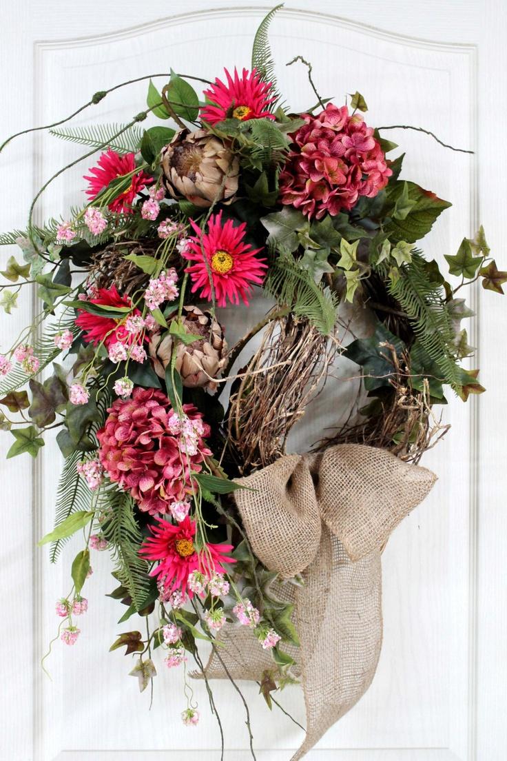 Spring Wreath Summer Wreath Front Door Wreath