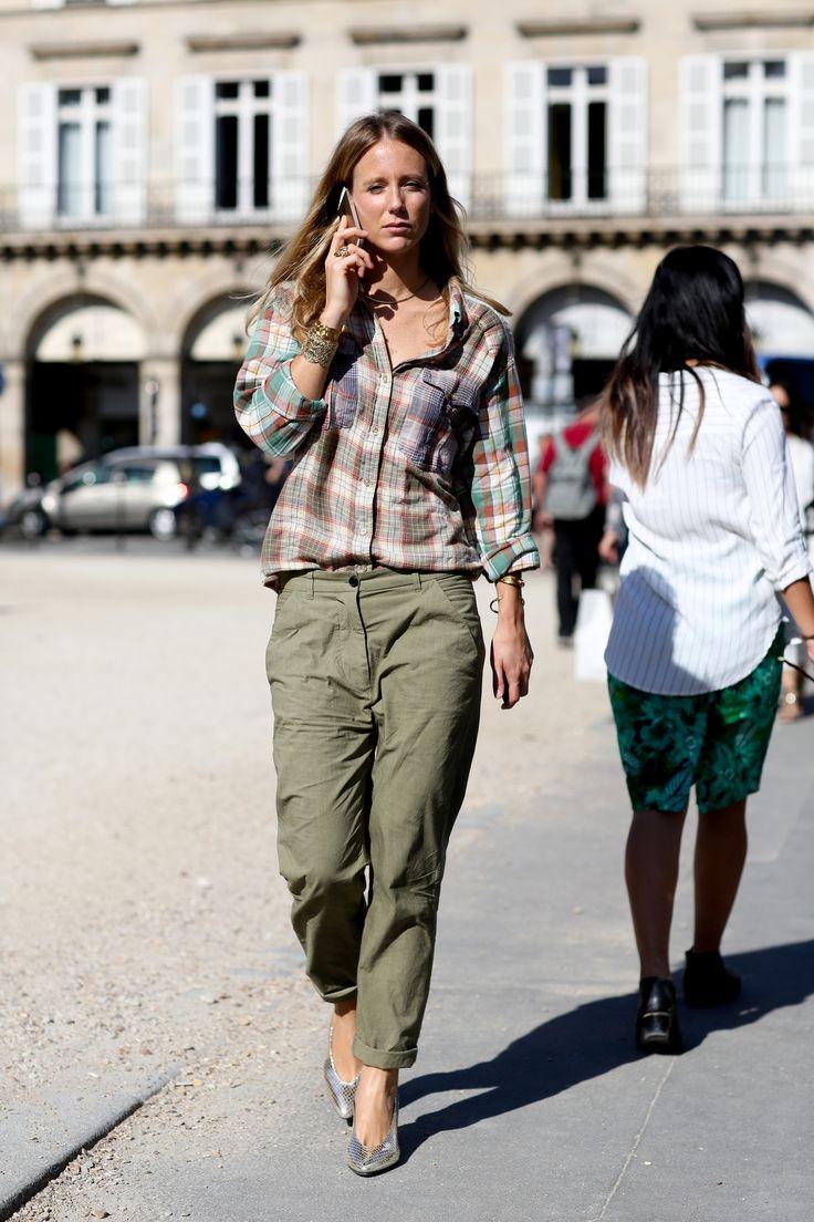 Street fashion wiosna-lato 2015: modne koszule, fot. Imaxtree